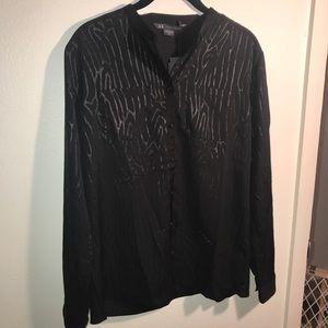Armani Exchange black button blouse size medium